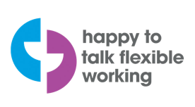 Logo: Happy to Talk Flexible Working